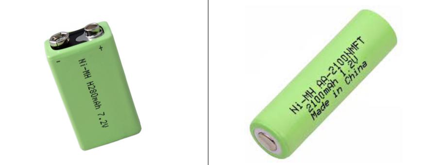 Pictures of Nickel Cadmium Nickel-Metal Hydride (Ni-MH) battery